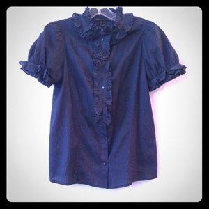 Marc Jacobs midnight blue blouse, 0, EUC